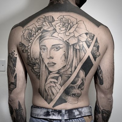 Blackwork Backpiece Lag Tattoos