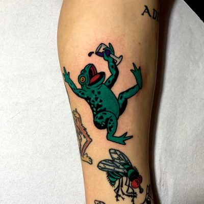 Traditional Frog Lag Tattoos