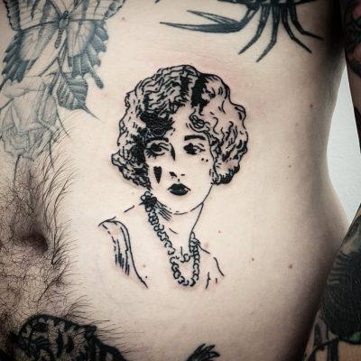 Vintage Woman Lag Tattoos