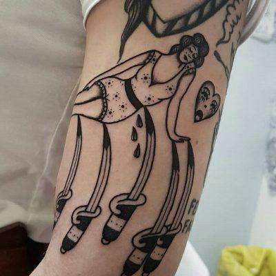 Vintage Lady Lag Tattoos