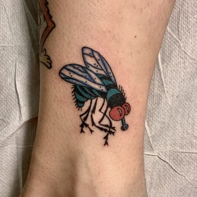 Traditional Fly Lag Tattoos